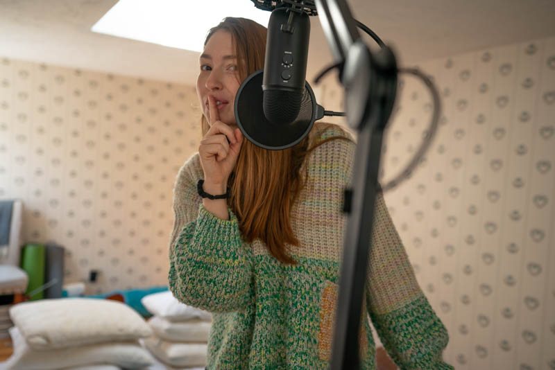 A picture of me recording for 'Arbor Fall Festival'