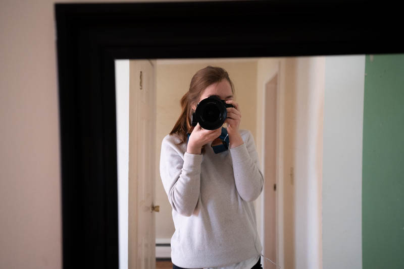 A picture of me standing in a mirror