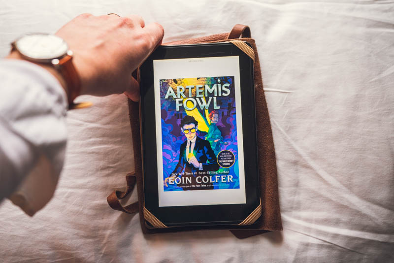 Artemis Fowl by Eoin Colfer on the Kindle Fire, E-Book.
