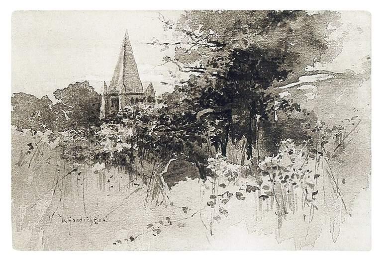 The Solemn Oak-Tree, Beal, William Goodrich, fl. 1880-1892, US