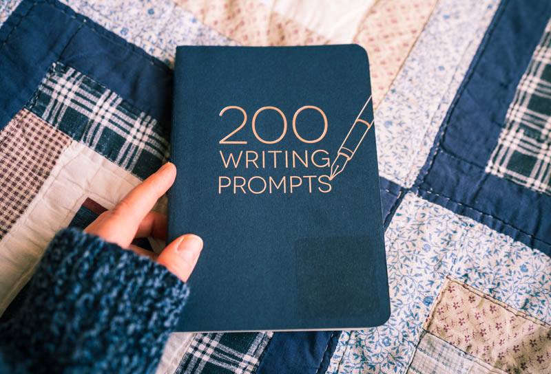 200 Writing Prompts Journal from my sweet sister to guide me through this character clarity practice.