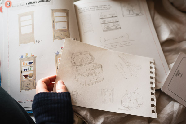 From 50 Ways to draw your beautiful ordinary life, sewing day 3 and furniture.