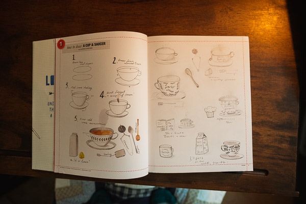 50 Ways to draw your beautiful ordinary life, coffee section.