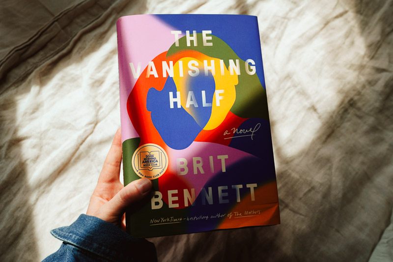 The Vanishing Half by Brit Bennett, cover art by Lauren Peters-Collaer