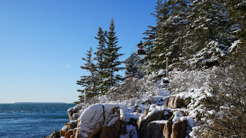 Portrait of Bass Harbor Lighthouse, January 2020